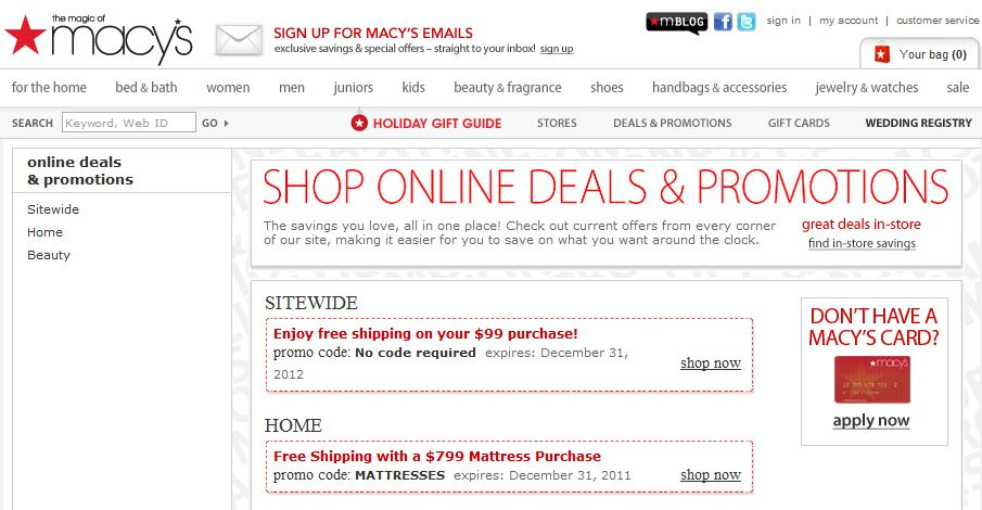 Great Customer Service Strategy #38: Have a coupon section on your website.