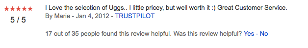 Merchant Rating - Trustpilot