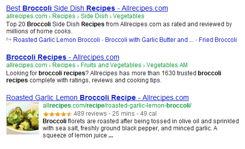 Rich Snippets broccoli