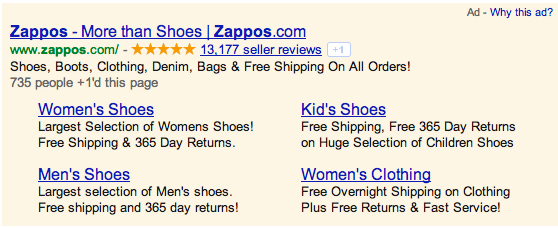 Merchant Ratings - Zappos Ad