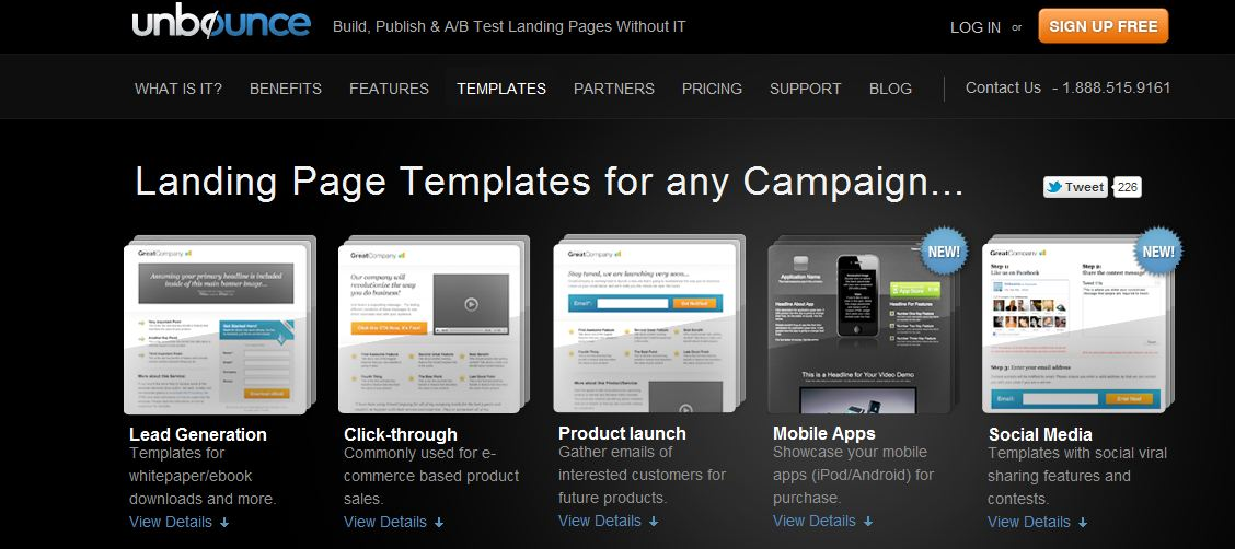 unbounce landing page remarketing