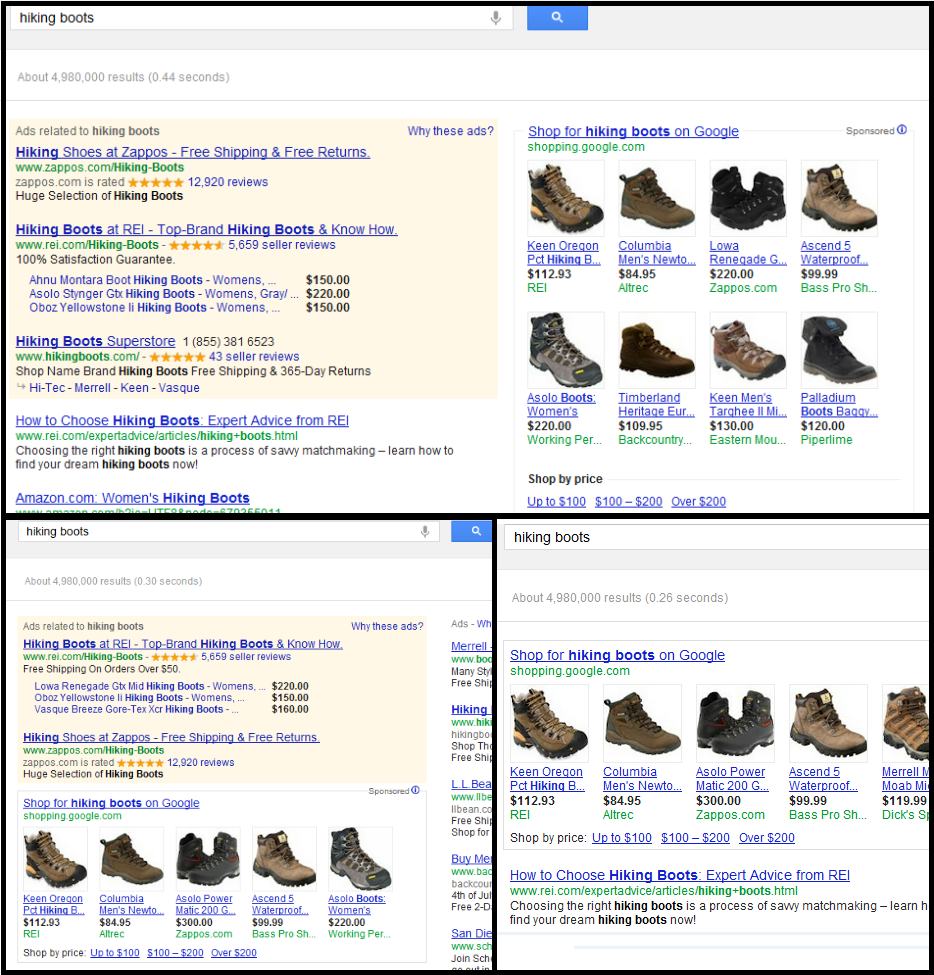New Paid Google Shopping Design: Product-Type Shopping Ads, Google ...