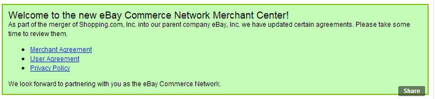 New Ebay Commerce Network