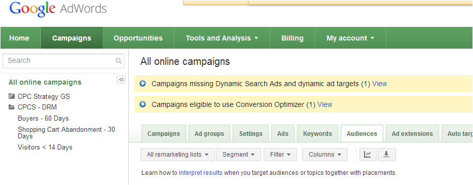 Google Dynamic Remarketing: PLA in AdWords with retargeting example