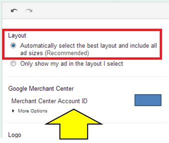 Google Dynamic Remarketing link merchant center account with AdWords