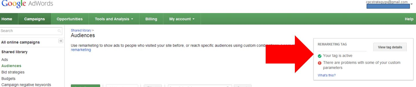 how to start remarketing in adwords