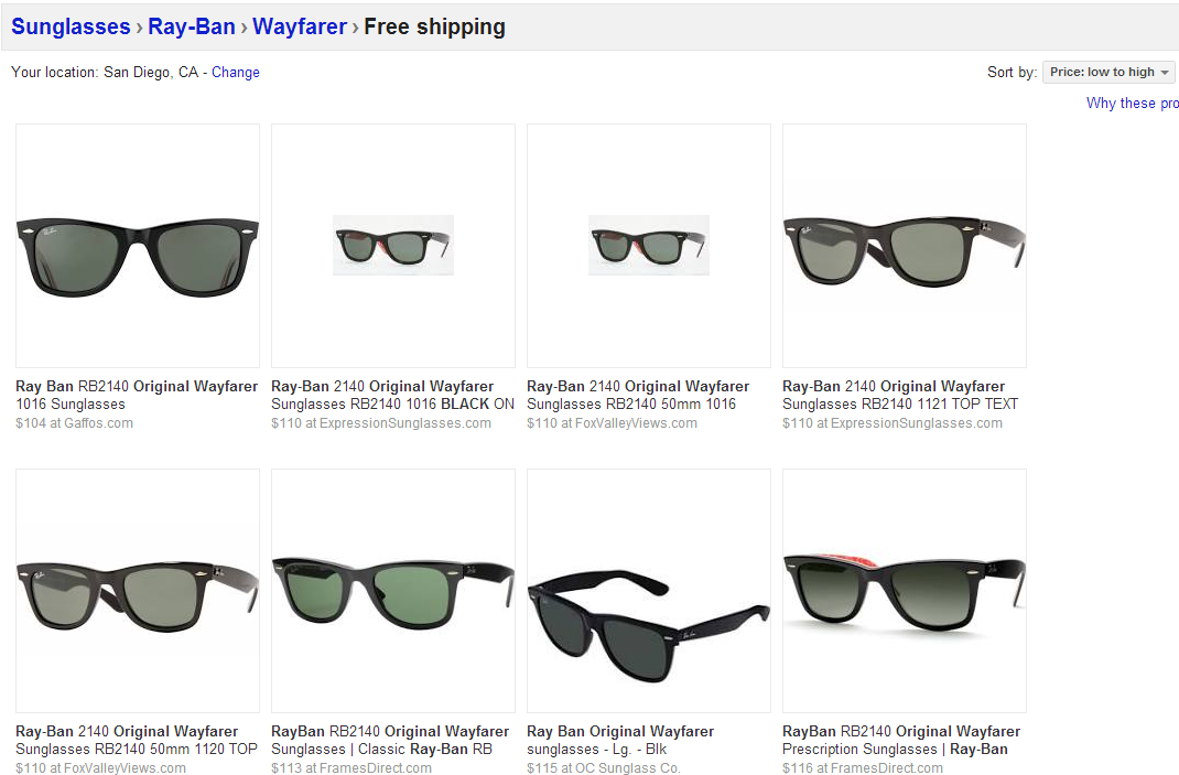 ray ban lowest price  Lessons Learned From Shopping on Google Shopping - CPC Strategy