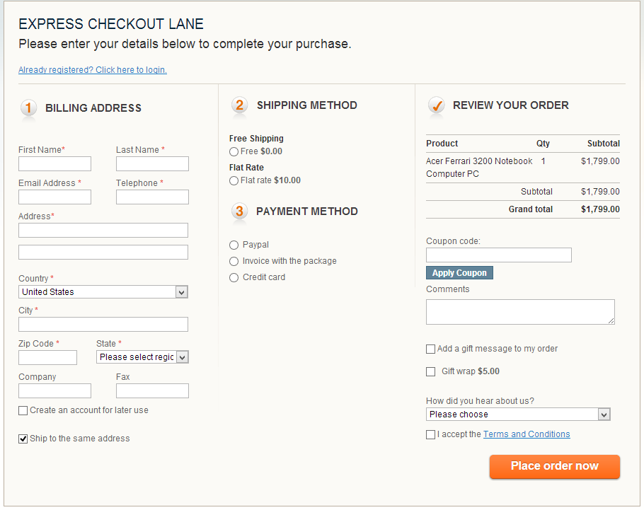 shopping-cart-abandonment-one-page-checkout
