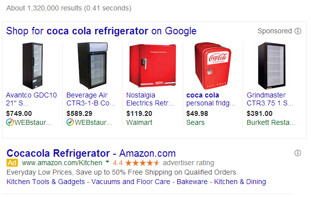 Google search results rankings