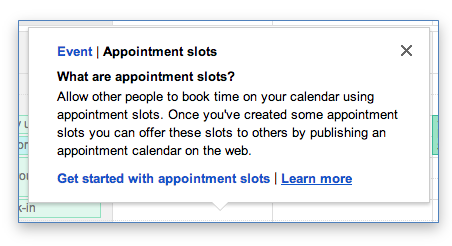 Gmail calendar appointments